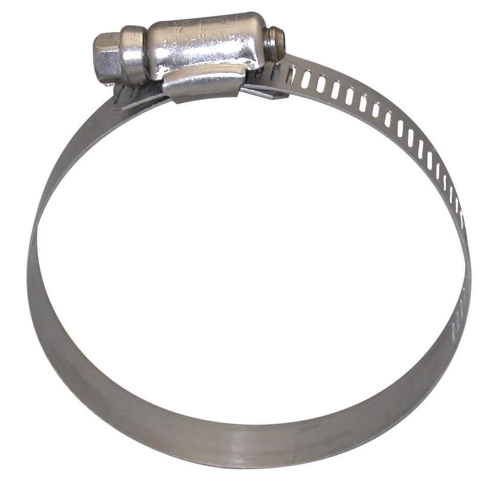 Shop hose clamp band ss mm to